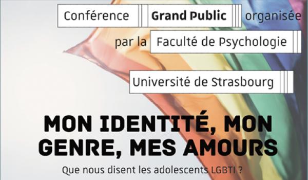 Conférence Grand public - Mon identité, mon genre, mes amours